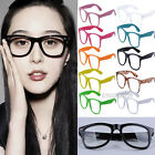 1PCS Unisex Fashion Candy Color Unisex Clear Lens Wayfarer Nerd Geek Glasses HOT