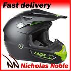 LAZER X7 SOLID X-LINE MATT BLACK GREEN MOTOCROSS MX ENDURO OFF ROAD HELMET