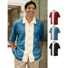 "Mens Small Cubavera Short Sleeve Retro Camp Shirt ""charlie Sheen Style"""