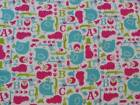 CRIB SHEET/FITTED/ FLANNEL- JUNGLE ANIMALS 123's ABC's - 4 DIFFERENT COLORS