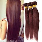 1-2 Bundles Hair Weave Wine Red Color Virgin Brizilian Human Hair Extensions Hot