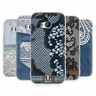 HEAD CASE JEANS AND LACES SILICONE GEL CASE FOR HTC ONE M8