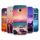 HEAD CASE WORDS TO LIVE BY SERIES 4 SILICONE GEL CASE FOR HTC ONE M8