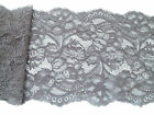 """NEW~Grey Delicate Stretch lace 15cm/6"""" Lingerie/Costume/Craft"""