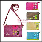 "Shoulder Bag Strap Handbag for Cosmetic / Phone 5"" 5.5"" CAT ANIMOB VELVET VELOUR"