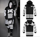 Men Cotton Extended Long KTZ Religion TOTEM Stripe GD Coat Hoody Hoodie Jacket