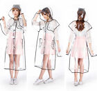 New Creative Womens Girl Clear Transparent Thickend Raincoat PVC Rain Coat Hot