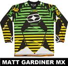 NO FEAR MOTOCROSS MX JERSEY shirt superior ESPECTRO PUA VERDE hombres