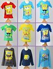 Spongebob Square Pants Official T-shirt Top 2 3 4 5 6 7 8 9 Years NEW UK STOCK