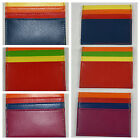 M & C Imports- Unisex Leather Credit Card Holder Wallet - Choose design