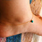 Green Beed Simple Gold Silver Chain Fashion Beach Anklet Ankle Bracelets