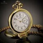 Kronen Sohne Mens 3 Colours Small Second Hand Analog 12-Hour Quartz Pocket Watch