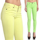 TheMogan Neon Soft Stretch Denim 5 Pockets Low Rise Ankle Skinny Jeans