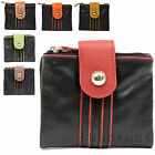 Ladies / Womens Prime Hide Leather Fold-Over Coin / Money Purse