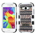 For Samsung Galaxy Prevail LTE Rubber IMPACT TUFF Hybrid KICKSTAND Case Cover