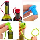 Novelty Silicone Seasoning Beer Bottle Sealing Plug Red Wine Stopper 3 Colors LJ