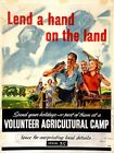 World War Two British Lend A Hand On The Land Poster A3 / A2 Print
