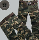 NEWs Combat Men's Casual Military Camouflage Cargo Pants ARMY Camo trousers Size