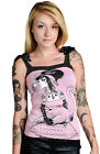 Too Fast Annabel Bow Pink Rita Tank Top T Shirt Flamingo Goth Gothic