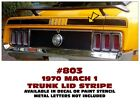 803 1970 FORD MUSTANG - MACH 1 TRUNK STRIPE - DECAL or PAINT STENCIL KIT