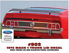 902 1973 MACH 1 MUSTANG - TRUNK STRIPE with MACH 1 - NAME NAME IN STRIPE