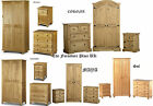 BEDROOM SETS in Pine , BEDSIDE CHEST OF DRAWERS WARDROBE - FREE DEL