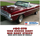 QG-378 1968 DODGE DART - MID BODY SIDE STRIPE KIT $ USD