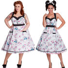 Hell Bunny Super Sweet 50's Long Dress Rock n Roll Dress Pinup Retro