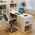 1Eazylife Home Office Computer Desk Study Table Workstation Bookcase Shelving
