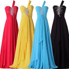 FAST Long Evening Formal Party Ball Gown Prom Bridesmaid Dress 6 8 10 12 16++
