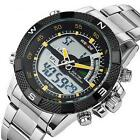 Newest Wrist Watch Men's Quartz Casual Digital Sport Watch Stainless Steel