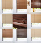 Real Wood Wooden Venetian Blinds 27mm & 50mm Slats Easy Fit Cream To Dark Brown