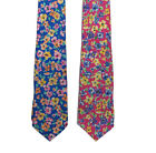 $115 Polo Ralph Lauren Mens Hand Made In Italy Pink Blue Floral Silk Neck Tie