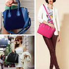 Women Lady Frosted Leather Shoulder Bag Tote Purse Handbag Messenger Cross Body