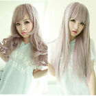LOLITA Fairy Color 2 Type Wig Long Straight/Curly Wave Hair Anime Cosplay Party
