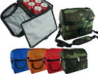2 Compartment Thermal Insulated Shoulder Bag 6 Pack Cooler for Lunch Box Baby