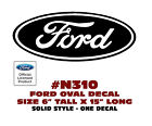 "N310 FORD OVAL DECAL - 6"" Tall x 15"" Long - SOLID STYLE - LICENSED"