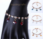 4 Color Simple 18K Gold Buckle Chain Pendant Sequined Striped Crystal Bracelet