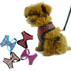 Adjustable Non Pull Soft Mesh Padded Dog Tartan Puppy Pet Harness 5 Sizes