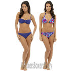 Floral Padded Non Wired Soft Cup Bikini Top and Bottoms Set Size 10,12,14,16,18