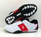 Us Polo Assn Sparrow White & Black Red Mens Shoes Sneakers Sizes 7.5-11