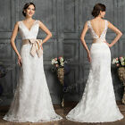 LONDON Ivory/White Mermaid Lace Bridal Wedding Dress Bridesmaid Prom Dress Gown