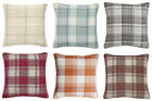 "Check Jacquard Kindle Woven Pair Of Decor Pillow Cushion Cover Cases 18"" Square"