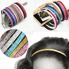 Women Girls Glitter Headband Lady Head Hoop Hairband Hairpin Hair Accessories