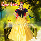 Adult Snow White Dress Cosplay Costume Hairband Cape Full Set FREE P&P