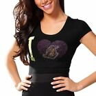 Los Angeles Lakers Women's Touchback Slim Fit T-Shirt - Black