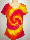 TIE DYE / DYED MATERNITY TOP WITH SIDE ROUCHING AVAILABLE IN SIZE Small & Large