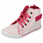 GIRLS SPOT ON CANVAS STYLE PINK TRAINERS  STYLE  - H4076