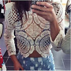 New 2015 Fashion women blouse lace clothing plus size casual summer beach tops