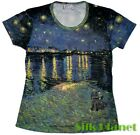 VINCENT VAN GOGH Starry Night over Rhone PAINTING T SHIRT TOP FINE ART PRINT